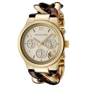 Michael Kors Gold & Tortoise Bracelet Watch